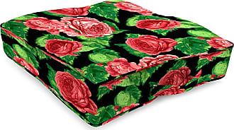 Jordan Manufacturing Company Classic Tufted Floor Cushion w/Handle, 20 Sq, Cabbage Rose