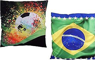 Uniart Kit Almofada Impressão Digital Brasil ALM-DV-03P/ALM-DV-07P 35x35 cm Uniart - Almofada com Estampa