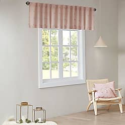 Urban Habitat Brooklyn Cotton Jacquard Pom Rod Pocket/Back Tab Window Valance Swag for Living Room Kitchen or Bathroom, 50 W x 18 L, Pink