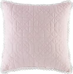 Five Queens Court Rosalind 18 Inch Square Quilted Throw Pillow, Pink