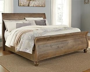 Ashley Furniture Trishley Queen Sleigh Bed, Light Brown