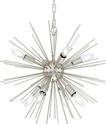 Elegant Lighting LD5037D20 Timber 8 Light 20 Champagne Sputnik