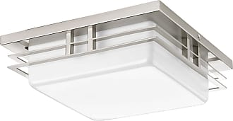 PROGRESS Helm Brushed Nickel 1-Lt. Wall/Ceiling LED Flush Mount Wac LED Module (11) White acrylic diffuser