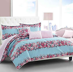 Revman International Betsey Johnson Banded Floral Comforter Set, Twin, Turquoise