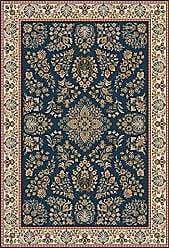 Milliken Carpet Pastiche Collection Halkara Round Area Rug, 77 x 77, Candle Blue