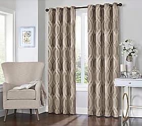 Ellery Homestyles KOZDIKO Eclipse Caprese 52 x 95 Insulated Darkening Single Panel Grommet Top Window Treatment Living Room, 52x95, Taupe