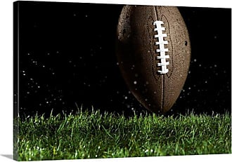 Great Big Canvas Football in Motion over Grass Canvas Wall Art - 1005129_24_24X16_NONE