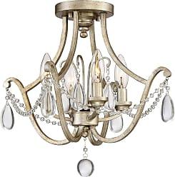 Quoizel Regent 16 4-Light Semi-Flush Mount in Vintage Gold