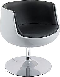 CorLiving DLN-300-C Mod Collection Accent Chair, Black, White