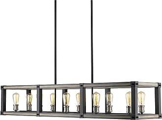 Z-Lite 472-10L Kirkland 10 Light 56 Wide Billiard Chandelier Rustic