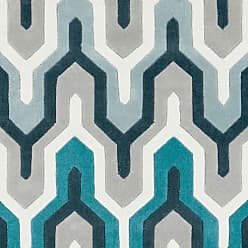 Art of Knot Orleans Hand Tufted Plush Geometric Area Rug, Teal