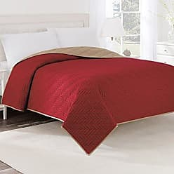 Westpoint Home Martex Solid Reversible Coverlet, Twin, Khaki/Red