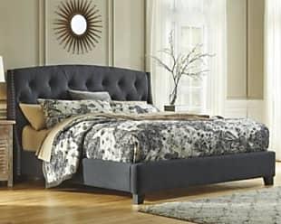 Ashley Furniture Kasidon California King Tufted Bed Dark Gray