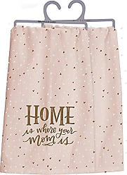 Primitives By Kathy 35089 Lettered Life Dish Towel, Home is Where Your Mom Is