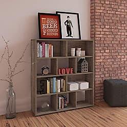Mobly Estante Para Livros Rack Book 3 Prateleiras Canela Artely