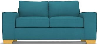 Apt2B Melrose Twin Size Sleeper Sofa - Leg Finish: Natural - Sleeper Option: Deluxe Innerspring Mattress - Teal Performance Fabric - Sold by Apt2B - Mo