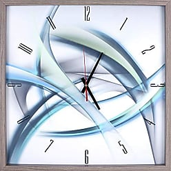 Art Maison Canada Blue Abstract Rhythminc Lines Print Framed Texture Decorative Silent Art Clock