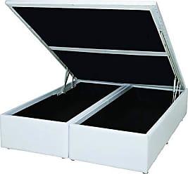 Ortobom Base Box 39cmx138cmx188cm com Baú Courino Casal Ortobom Branco