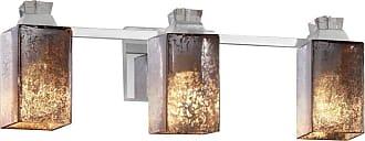 Justice Design Fusion Ardent Mercury 3 Light Bathroom Vanity Light - FSN-8473-15-MROR-CROM
