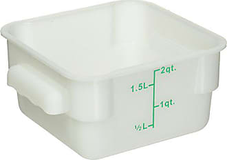 Winco USA Winco Square Storage Container, 2-Quart, White