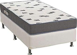Ortobom Conjunto Cama Box Physical com Colchão Solteiro Espuma D33 Light (20x88x188) Azul