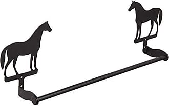 Village Wrought Iron 18 Inch Horse Towel Bar Small