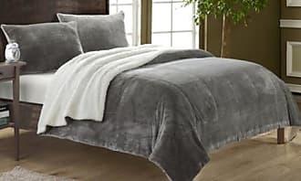 Chic Home Naomi Sherpa Comforter 2 Piece - Gray - Size: Twin XL