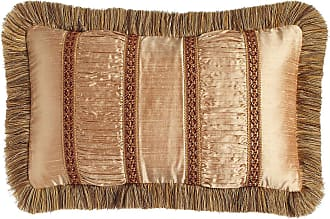 Dian Austin Couture Home Mediterrane Pillow with Ruched Silk Insets, 13 x 22