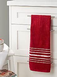 Danica Studio Block-stripe hang-up towel