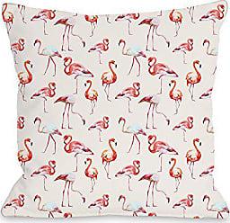 One Bella Casa 74498PL18 Pillow 18 x 18 x 3 Pink/Multicolored