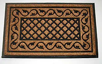 Geo Crafts Rubber Back Ivy Lattice Border Doormat, 24 by 39-Inch