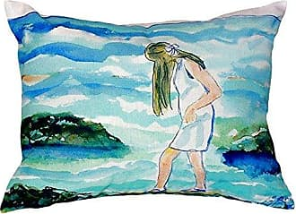 Betsy Drake NC122 Mia on The Rocks No Cord Pillow 16 x20
