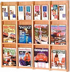 Wooden Mallet Divulge w Inserts 12 Magazine/24 Brochure Floor Display, Mahogany