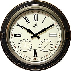 Infinity Instruments The Forecaster All Weather Outdoor 16W x 16H in. Wall Clock - 15085AB-4064
