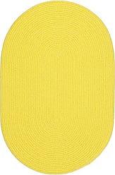 Rhody Rug Fun Braids Solid Yellow 10X13 Oval