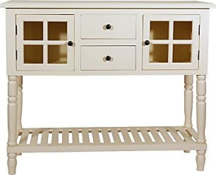 Decor Therapy FR8444 Morgan Two Door Console Table, Antique White