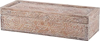 Dimond Home Whitewashed Carved Albasia Wood Box