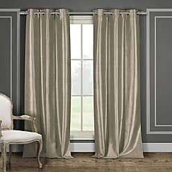 Duck River Textile Home Fashion Solid Faux Silk Grommet Top Window Curtains for Living Room & Bedroom - Assorted Colors - Set of 2 Panels (38 X 84 Inch - Mocha Brown)