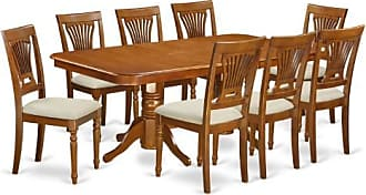 East West Furniture Kenley 9 Piece Dining Table Set with Plainview Chairs