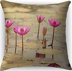Kavka Designs Lotus Accent Pillow - IDP-DI16-16X16-BOB057
