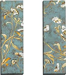 Portfolio Canvas Decor Portfolio Canvas Decor Cotton Blossom Panel I by Stiles Wall Art (Set of 2), 12 x 36