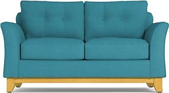 Apt2B Marco Twin Size Sleeper Sofa - Leg Finish: Natural - Sleeper Option: Deluxe Innerspring Mattress - Teal Performance Fabric - Sold by Apt2B - Mode