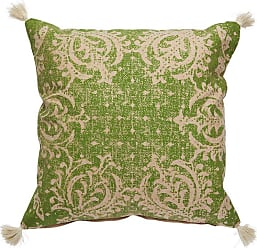 Jaipur Living Rugs Verdigris Damask Tasseled Indoor Throw Pillow - PLW102811