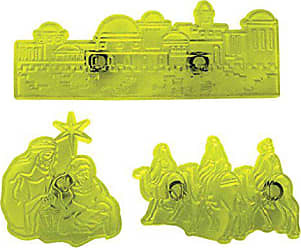 Emporte-pièce feuilles avec cale montante 3er set