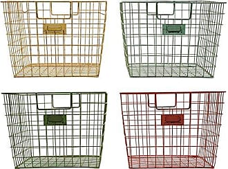 Creative Co-op Creative Co-Op Wire Locker Baskets in Red, Yellow, Green & Lime (Set of 4 Colors)