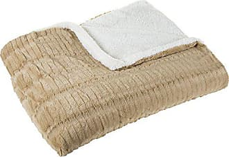 Trademark Global Lavish Home Fleece and Sherpa Blanket - Full/Queen - Taupe