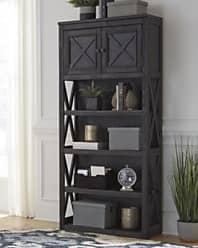 Ashley Furniture Tyler Creek 74 Bookcase, Grayish Brown/Black