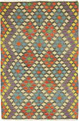 Nain Trading Kilim Afghan Heritage Rug 711x54 Dark Grey/Beige (Afghanistan, Wool, Handwoven)