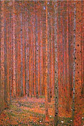 Buyartforless Tannenwald (Pine Forest) by Gustav Klimt 36x24 Museum Masters Landscape Birch Trees Poster, Print, Decorative Accent, Wall Art Multi-Color