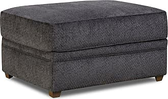 United Furniture Simmons Upholstery Bellamy Slate Ottoman - 8530BR-09 BELLAMY SLATE